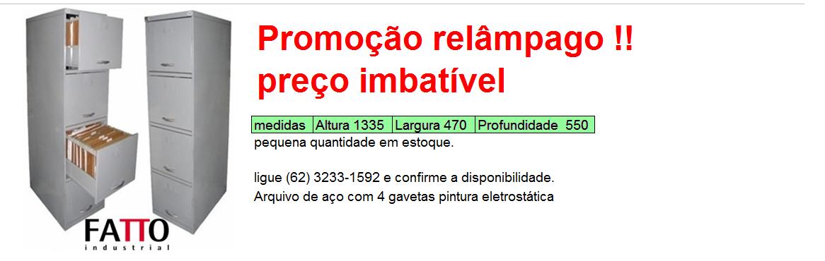 ARQUIVO DE AÇO PROMOÇÃO