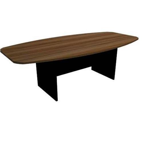 Mesa para reunião tampo 25mm 2.00x0.74x1.00 semi oval