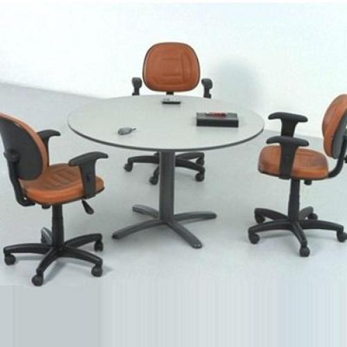 Mesa de reunião redonda modelo 01