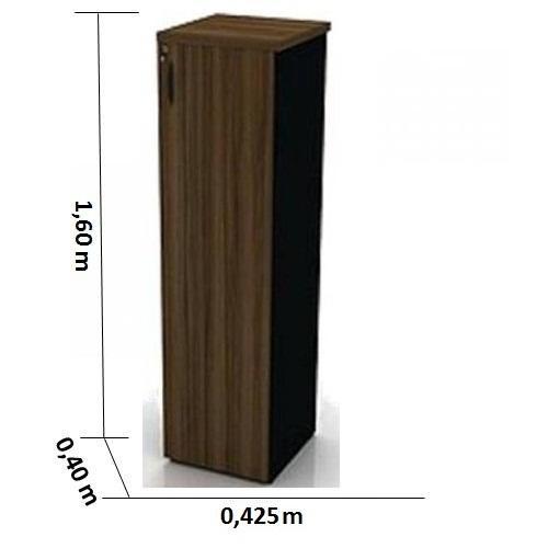 Armário Ferrus Silver Torre - 3 Prateleiras - Com Porta - 40mm x 425mm x 1600mm - MDP 40mm
