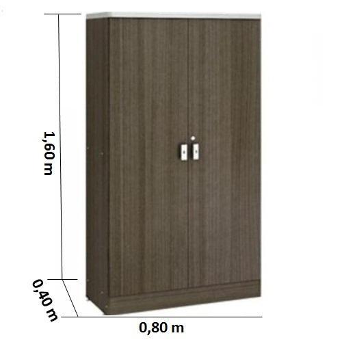Armário alto fechado cor terracota tampo 30mm