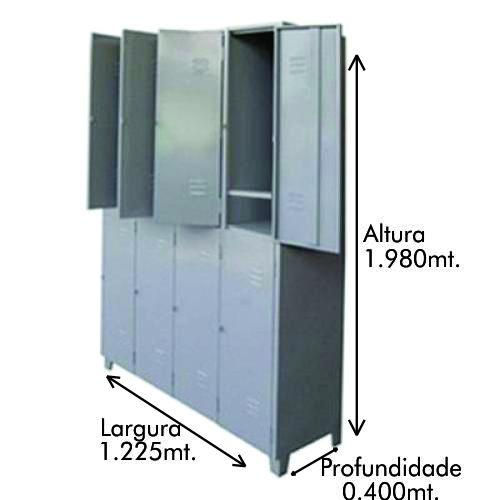 Roupeiro GR-8 8 Portas com reforço omega p