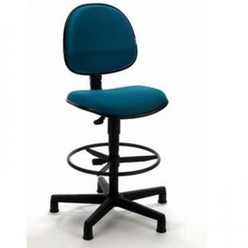 Cadeira Caixa Executiva tecido azul