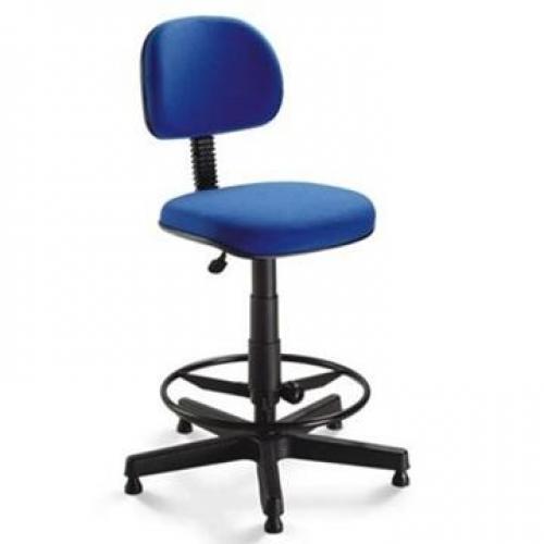 Cadeira Caixa secretária tecido azul