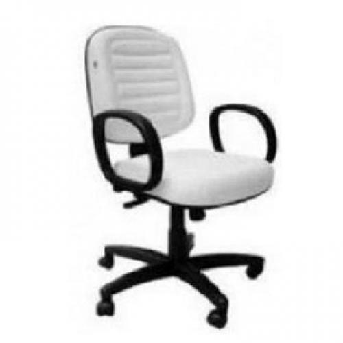 Cadeira diretor costurada no corano branco base giratória