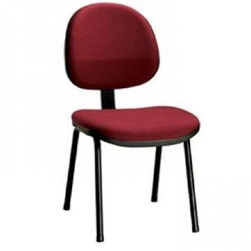 Cadeira executiva no tecido ou corano sem braço base 4 pé