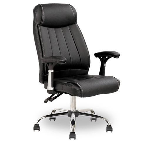 Cadeira Presidente reclinável estrutura aço cromado ref: 4351