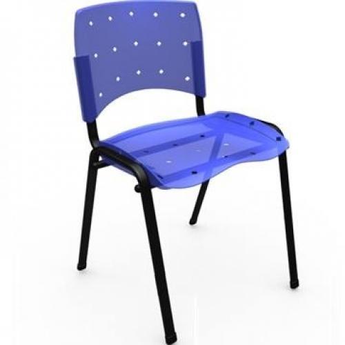 Cadeira secretária fixa em polipropileno