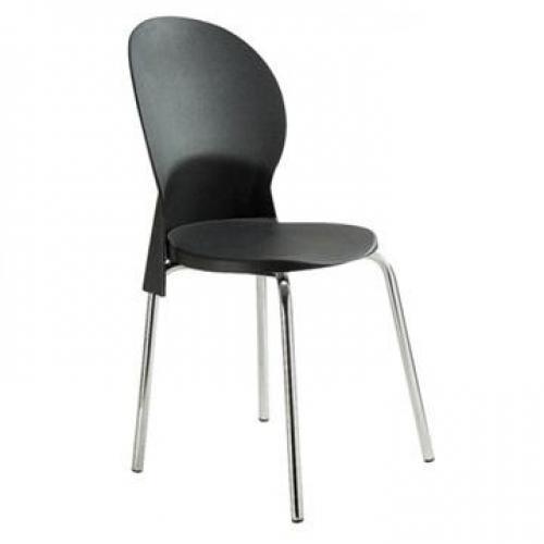 Cadeira secretária mod. luna fixa cor preta