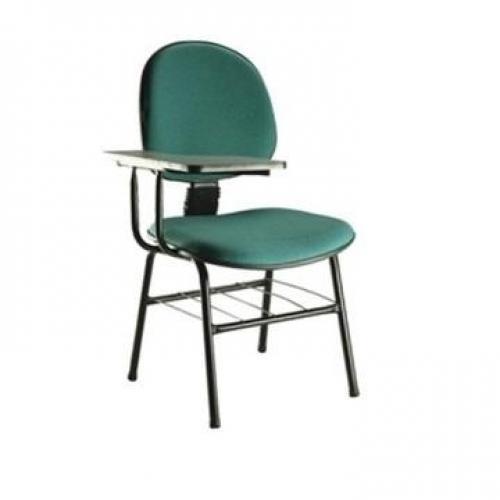 Carteira escolar executiva assento e encosto em tecido ou coro sintético