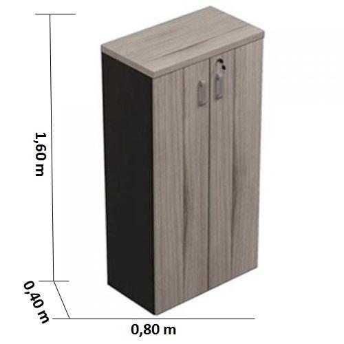 Armário alto fechado maderado
