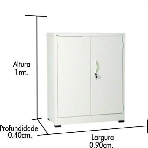 Armário de aço CA-940 c/ pé nivelador p/cinza