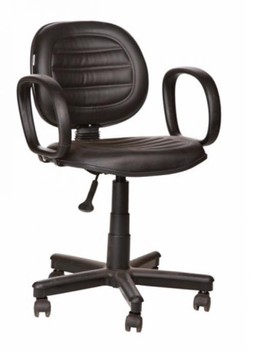 Cadeira executiva giratória costurada e braço corsa