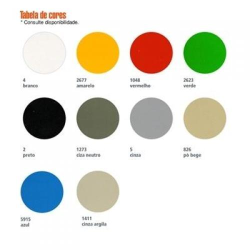 cores disponíveis para roupeiro de aço