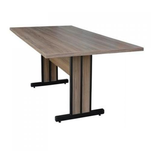Mesa de reunião pe duplo com nivelador 2,00x0,90x0,75mt