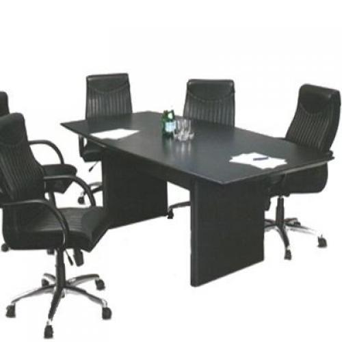 Mesa de reunião pé painel para 6 cadeiras