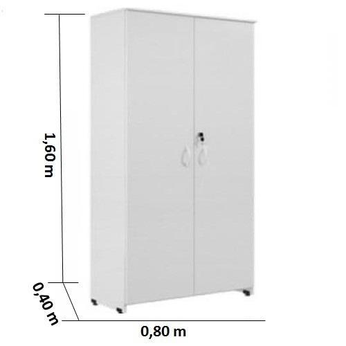Armário Ferrus Cristal Alto Fechado 2 Portas Tampo Superior 15mm 0450