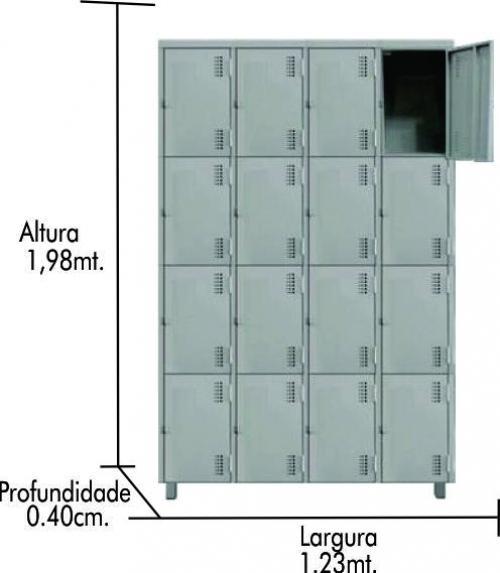 Roupeiros de aço GR-16 Portas c/ reforço omega nas portas 0149