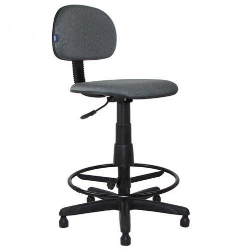 Cadeira Caixa Giratória Secretaria base Plax fixa com Apoio Regulável