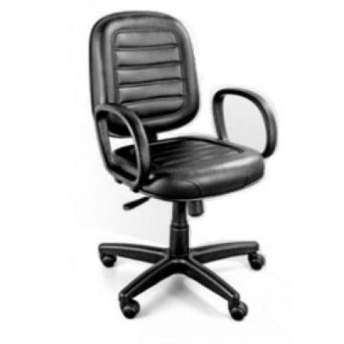 Cadeira Diretor Costurada Giratória Tecido ou Corano e Braço Corsa