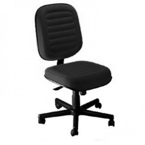 Cadeira Diretor Giratória Costurada Tecido ou Corano Sem Braço
