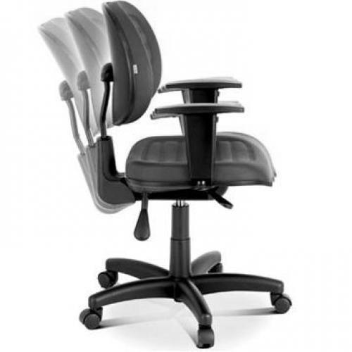 Cadeira Executiva Giratória Costurada com Mecanismo Back System