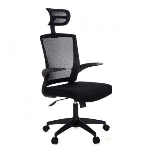 Cadeira Presidente ANIMA ANM321P Apoio de Cabeça Preta 0203