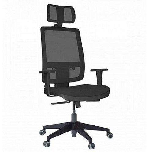 Cadeira Presidente PLAX BRIZZA com apoio de Cabeça base Piramidal 0520
