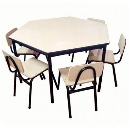 Conjunto escolar infantil em formica Modelo 03