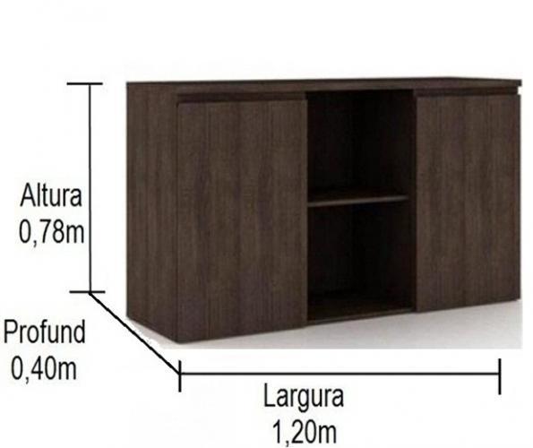 Armário credenza 2 portas e uma prateleira para pasta