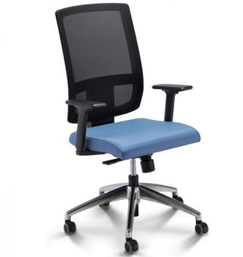 Cadeira Presidente Brizza Tela Sem Apoio de Cabeça com Braço Digitador 37811 0261