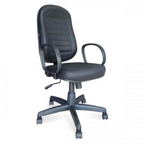 Cadeira Presidente Baixa com Costura e Braço Corsa