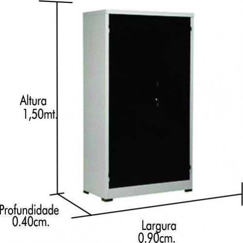 Armário de Aço Nobre PA 150 #26 (1,50 x 0,90 x 44) 0125