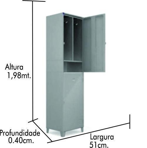 Roupeiro de aço Insalubre 2 Portas 0220