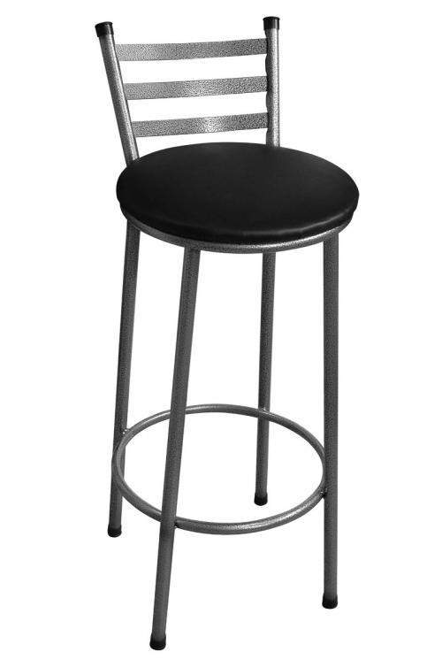 Banqueta Alta em aço tubolar com pintura eletrostática Assento laminado redonto 0484